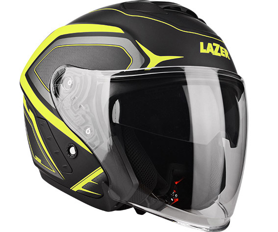 MOTORISTIČNA ČELADA LAZER TANGO HEXA (BLACK - YELLOW - MATT) XL